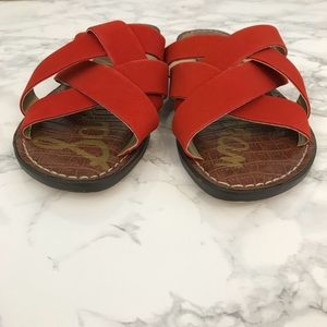 Sam Edelman Shoes - Sam Edelman Gaile Slide Sandal Red 8.5
